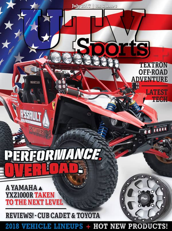 UTV Sports Magazine July 2017 Yamaha Assault Cub Cadet